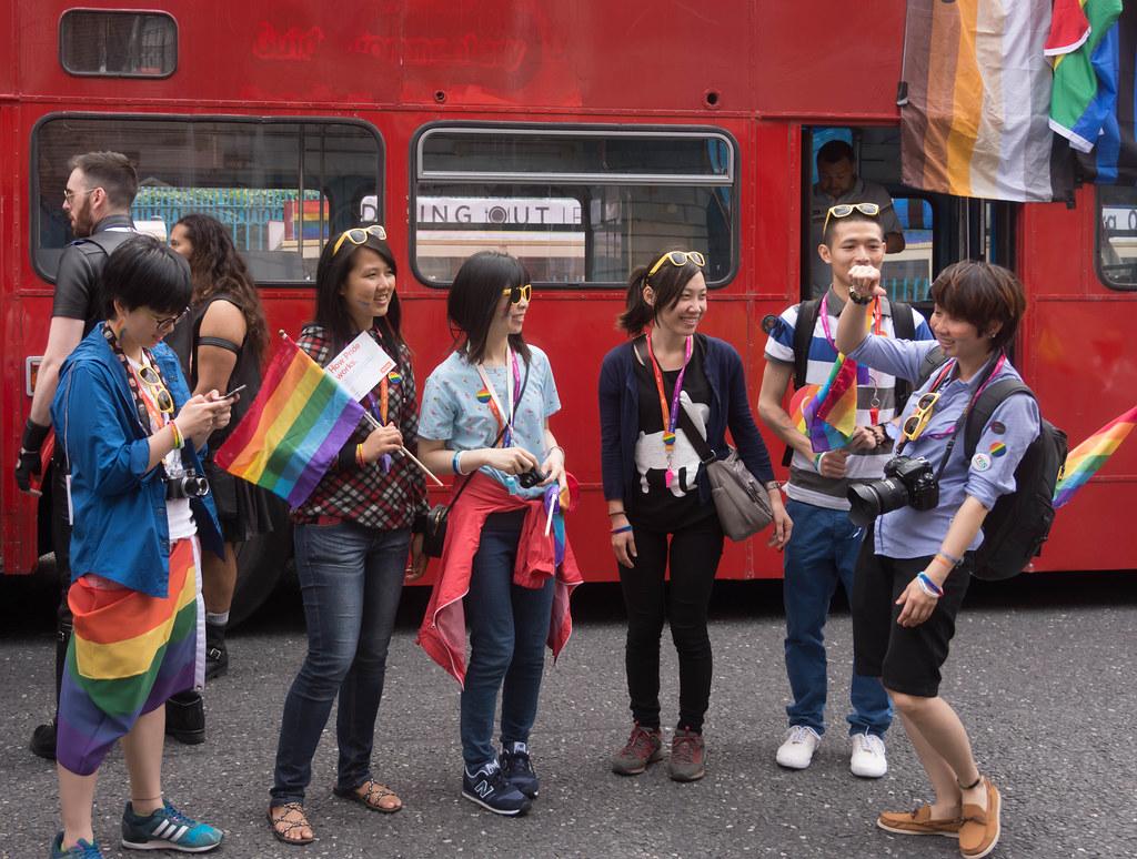 DUBLIN 2015 LGBTQ PRIDE FESTIVAL [PREPARING FOR THE PARADE] REF-106229