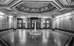 interior of the Customs House Shanghai (Swissrock) Tags: november bw blackwhite asia shanghai interior artdeco  bund archtecture customshouse 2014 architectur nikond700 siverefex
