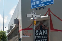 ISIS in SF (cooli_#1) Tags: california street food men girl photography photo rainbow nikon women san francisco walks shoot outdoor district bart 85mm mexican mission trucks grocery nikkor 18 tough d3