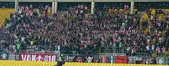 Away Section // Ajax Amsterdam (nemico publico) Tags: vienna wien amsterdam football österreich fussball soccer fans ajax stadion pyro league champions ultras tifo fanatics awayday hütteldorf choreo ultrasrapid skrapidwien