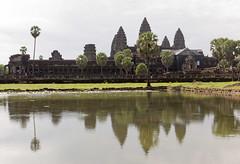 Angkor Wat (Rambo2100) Tags: reflection water pagoda ancient cambodia khmer lotus towers angkorwat off unesco siemreap angkor moat worldheritage mountmeru scjohnson suryavarmanii អង្គរវត្ត rambo2100
