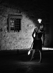la ragazza di fuoco (francesco (omino del vento)2) Tags: bw night monocromo blackwhite nikon fineart persone e 28 bianco nero d800 2470 surreale flickraward