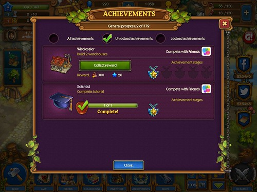 The Tribez & Castlez - Play with friends! Achievements: screenshots, UI