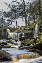 Lumb Falls (cdhardaker) Tags: photography waterfall water river trees uk england longexposure misty autumn fall forest bridge movement yorkshire visitengland hebdenbridge sky tourism tourist rocks green history historic visityorkshire