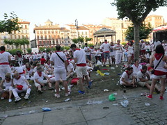 There are 1 million visitors each year at San Fermin festival.