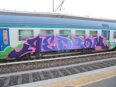 301 (en-ri) Tags: redrom lilla viola rosa verde train torino graffiti writing