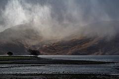 Storm Overhead (cotswoldman) Tags: hailstorm cloudscape clouds rain rainclouds lochhourn knoydart corran arnisdale glenelg trees colour landscape scottishhighlands scotland highlands highlandsandislands lochsandglens gloucestercameraclub drama dramatic