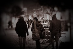 Day 15:Is for..The band (Konstantinos Karnaros) Tags: 365 night street city band preople athens blackandwhite blackwhite