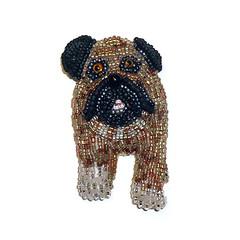 Fawn Beaded English Bulldog Pin Pendant (The Lone Beader) Tags: beadwork beadembroidery seedbeads delicas beading beadedanimal etsy amazon handmade brooch pendant pets dogs jewelry shopping fashion frenchie