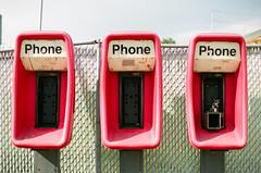 50220022 (alexdotbarber) Tags: 12800 35mm c41 carlzeissplanart50mmf14 contaxaria fujireala100 houstoneastend slr colornegative f2 phonebooth
