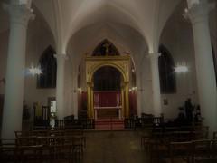 St Philip's Church, Cosham (Wider World) Tags: england hampshire parishchurch cosham stphilips comper ciborium vaulting chairs christmaseve altar candles pillars gold white churchofengland cofe anglican