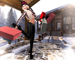 After Christmas Shopping At Sass (lauragenia.viper) Tags: bento exile glamaffair iconsofstyle lelutka lumipro maitreya mayfly sass secondlife secondlifefashion simone thearcade welovetoblog boots avatar virtual girl sexy longhair plaid bag gift shop outdoor person jeans winter cap bow blond blonde