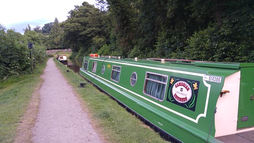 Narrowboat moored at Talybont-on-Usk