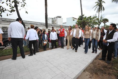 El gobernador Javier Duarte de Ochoa realizó Visita de Supervisión de las Obras de Remodelación de la Av. Salvador Díaz Mirón.