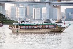 Yakatabune (Dick Thomas Johnson) Tags: japan tokyo minato 日本 東京 港区 屋形船 yakatabune boat 船 海 sea 東京湾 tokyobay 東京港 portoftokyo 港 port