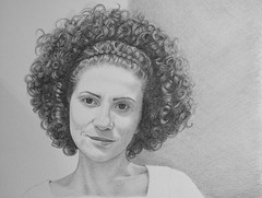 Daniela for JKPP *Explore* (bellydanser) Tags: portrait people art artwork pencil drawing graphite jkpp juliakaysportraitparty fineart