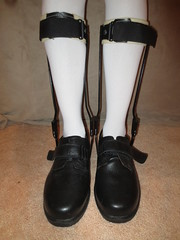 AFO Pair That are Being Sold with the KAFO's (KAFOmaker) Tags: brace braces braced bracing afo kafo leather metal orthopedic caliper calipers orthese orthotic orthosis orthoses orthosen fetish bound bondage restraint restraints restrain restraining