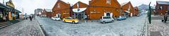 函館森 (Edistacy) Tags: 函館 北海道 hokkaido red brick wall snow hamburg clown street はこだてし hakodate travel pier panorama 360