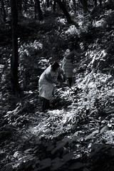 Women in the woods - Pokhara, Nepal (Tocsy) Tags: bw streetphotography nepalese people nepali nepal pokhara travel canon6d street woods