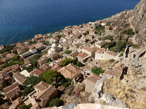 Monemvasia - Lower Town from Upper Town P1080775