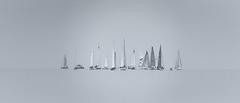 Regatta der Eiserne 2016 (eric cadreur) Tags: regattadereisernen regattaofiron lakeconstance bodensee konstanz misty fog sailing boats panorama monochrome