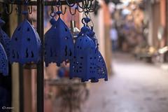 preso blu (_esse_) Tags: marocco morocco marrakech medina lanterne lamps nientelucciole blu parecchissimoblu