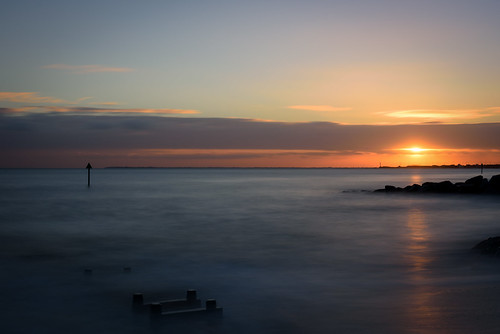 Sunset at Felixstowe