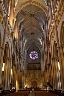 The restored nave of cathedral Saint-Jean