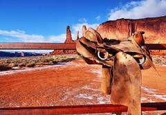 Monument Valley (Albert Jafar) Tags: monumentvalley monumentvalleynavajotribalparkinformationcenter saddle sandstoneredrocks arizona utah bluesky photographerswharf ngc worldtrekker