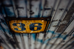 36 (ewitsoe) Tags: rusty rust plate metal metallic city industrial poznan poalnd font erikwitsoe discrded waste old discarded poland polska rusting fence numbers 3 6 36