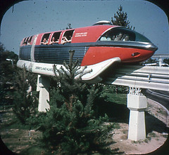 Tomorrowland Reel 3, #5b - The Monorail Whizzes Past Fir Trees (Tom Simpson) Tags: viewmaster slide vintage disney disneyland 1960s vintagedisney vintagedisneyland