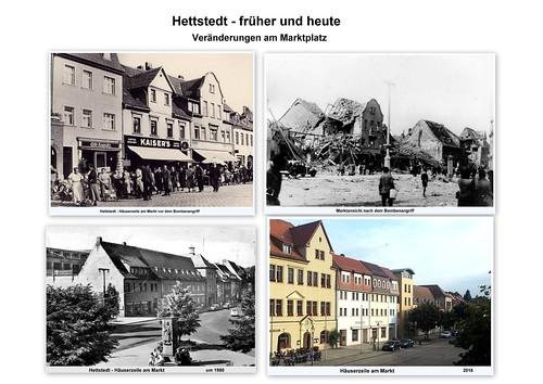 Hettstedt - Marktplatz , früher und heute