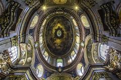 St Peters Church Ceiling. Peterskirche is a Baroque Roman Catholic parish church in Vienna, Austria