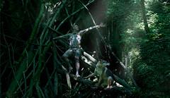 Spirit forest river (Keres Jasminka) Tags: chien male art nature nu fineart loup extrieur shaman fort bois homme esprit tatouage primitif bergerallemand