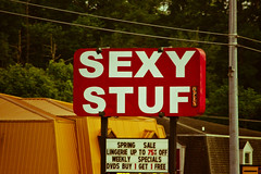 Sexy Stuf (Christina Ann VanMeter) Tags: sign words tennessee letters advertise