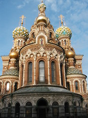 Church on Spilled Blood (Jae at Wits End) Tags: building tower church architecture stpetersburg religious colorful russia top religion landmark tourist structure spiritual multicolored turret attraction