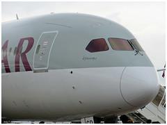 Boeing B787-8 Dreamliner (Aerofossile2012) Tags: aircraft aviation airshow salon boeing pas avion qatar b787 lebourget 2013 dreamliner quatar siae