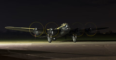 Avro Lancaster BVII - 30 (NickJ 1972) Tags: heritage night fireworks aviation centre run lincolnshire lancaster leh taxy b7 avro 2014 justjane bvii dxf nx611 lahc gasxx