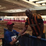 "Carlton meets Evander Holyfield at the Boxing event Natl Veterans Wheelchair Games <a style=""margin-left:10px; font-size:0.8em;"" href=""http://www.flickr.com/photos/125529583@N03/19149820862/"" target=""_blank"">@flickr</a>"