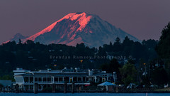 TGIF from West Seattle to Mount Rainier at sunrise (Brendinni) Tags: seattle mountain sunrise pastel mountrainier rainier westseattle saltys seattlewa