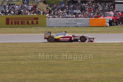 Rio Haryanto in GP2 Practice at the 2015 British Grand Prix
