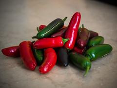 P7015343 (zullo_stefano) Tags: red food orange black macro green colors pepper zuiko hotpepper jalapeño blackhungarian zuiko50mmmacro olympuse5