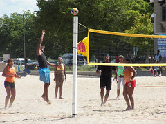Beach Volleyball-5 (AHummons Photography) Tags: street family boy people urban chicago black male men love beach sports girl childhood sport female youth children fun athletics women child play adult action secret joy young together gathering africanamerican lives leisure southside volleyball activity athlete adults lakefront active 63rd
