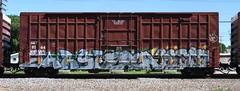 Sarse/Each/Reser (quiet-silence) Tags: railroad art train graffiti railcar etc boxcar graff freight each gk sry fr8 sarse reser sry9164