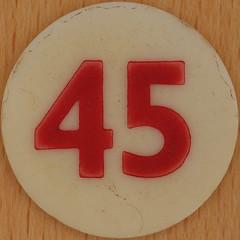 Bingo Number 45 (Leo Reynolds) Tags: xleol30x squaredcircle number numberbingo xsquarex bingo lotto loto houseyhousey housey housie housiehousie numberset group9 45 groupnine sqset120 40s canon eos 40d xx2015xx xxtensxx sqset