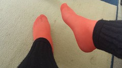 20150715_165843 (microklein50) Tags: feet sandals flats nylon birkenstock leggings ballerinas leggins ballarinas
