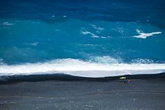 "Black Beach Sunbath (""Daniel"") Tags: sea sun black beach mediterranean waves loneliness corse daniel corsica azure shore pollution lonely portier nonza sunbatch mediter danielportier asbesthos"