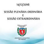 Sessão Plenária Ordinária e Extraordinárias 14/12/2016