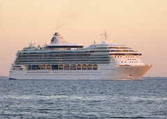 Brilliance of the Seas - Port of Tampa - Florida (TropicViking) Tags: orange gulf beach tampa florida fort park egmont key cruiseship brillianceoftheseas portoftampa halloween gulfofmexico sunset gulfsunset fortdesotopark egmontkey