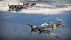 Bf 109 G-2 (Lego Pilot) Tags: lego ldd messerschmitt bf109 g2 gustav wwii german fighter luftwaffe plane blender aircraft